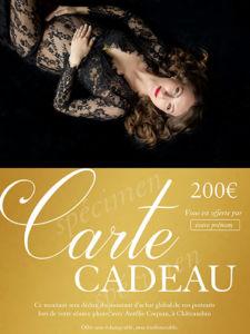 Grossesse : Carte-cadeau pour une séance photo à Châteaudun avec Aurélie Coquan Photographe