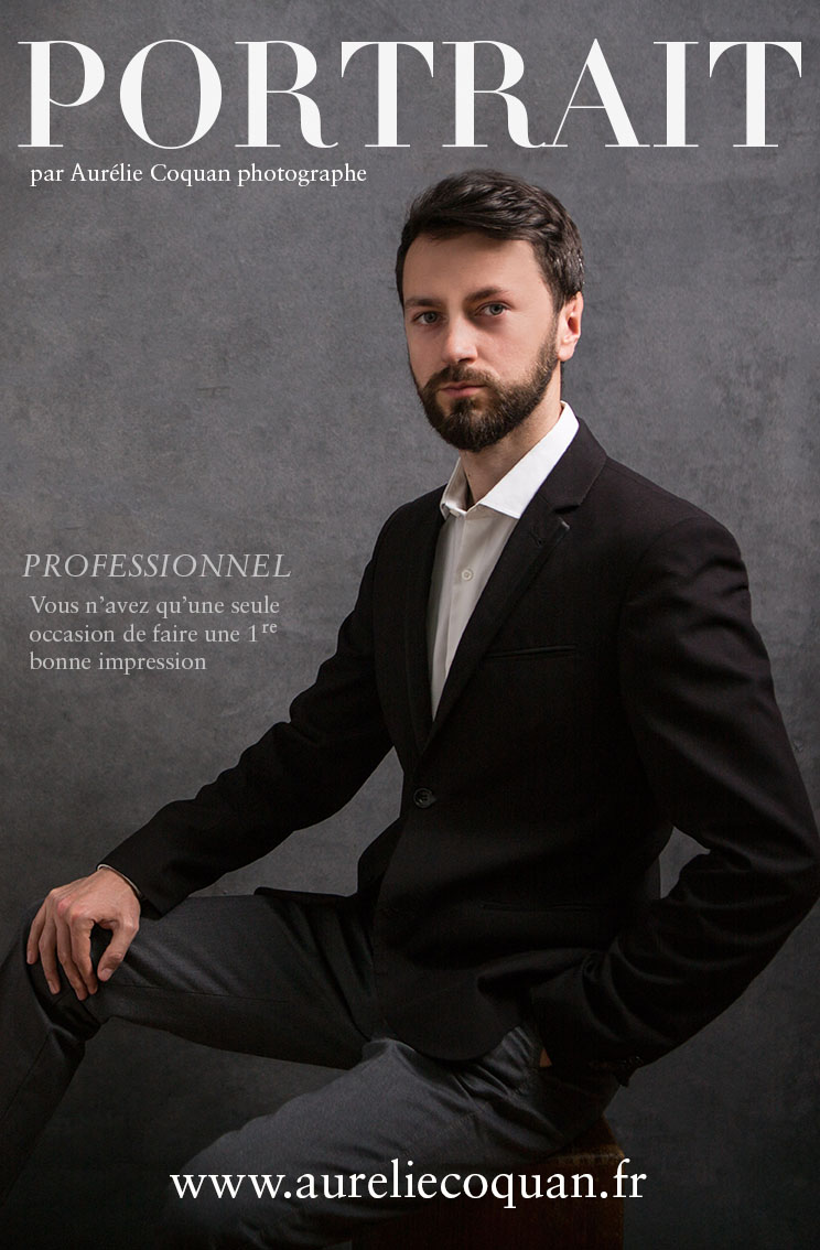 Portrait professionnel (image de chef d'entreprise) par Aurélie Coquan photographe à Châteaudun