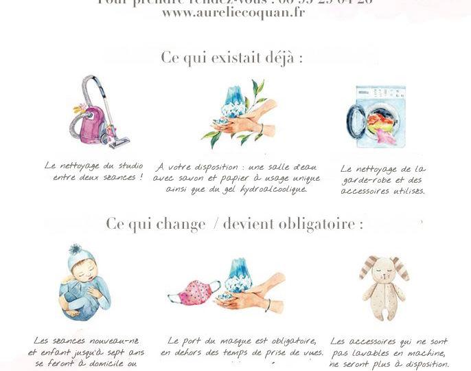 Coronavirus et séance photo : récapitulatif des mesures d'hygiène à respecter pour venir dans votre studio photo à Châteaudun par Aurélie Coquan